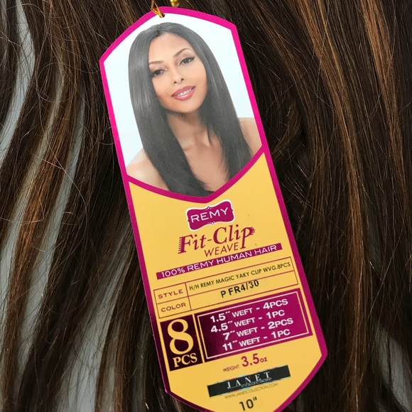 Remy Accessories 10 Fit Clip Weave Clipin Hair Extensions Poshmark